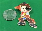 Disney Pin Mickey Mouse Sheriff Cowboy Hat Chaps & Gloves Disneyland Paris